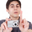 Man taking pictures — Stock Photo