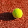 Clay court with tennis balls — Stock Photo #8219731