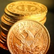 American gold coins — Stock Photo