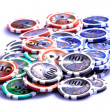 Casino chips on white — Stock Photo #8219822