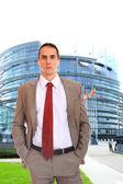 Deputy of the European Parliament in Strasbourg — Stock Photo