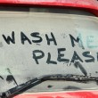 Window of dirty car — Stock Photo #8220073