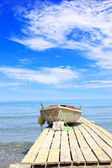 Fishing boat anchored — Stock Photo