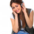 Music Listening Girl — Stock Photo