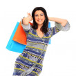 Lovely woman with shopping bags — Stock Photo #8429953