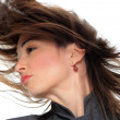 Portrait of woman with beautiful hair — Stock Photo
