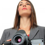 Woman With medium format Camera — Stock Photo #8432325