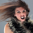 Beauty young woman screaming portrait - Stock Photo