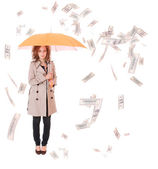 Woman holding an umbrella — Stock Photo