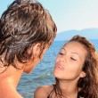 Couple on a tropical beach — Stock Photo