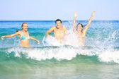 Having fun in the sea — Stock Photo