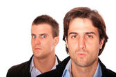 Porträtt av affärsmän som arbetar tillsammans — Stockfoto