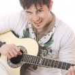 Man with guitar - Stockfoto