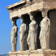 Caryatids, erechtheion temple Acropolis — Stock Photo #8464622