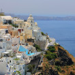 View of Fira town - Santorini - 图库照片