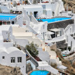 View of Fira town - Santorini - Foto de Stock