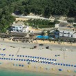 Valtos beach Shot from Helicopter — Stock Photo