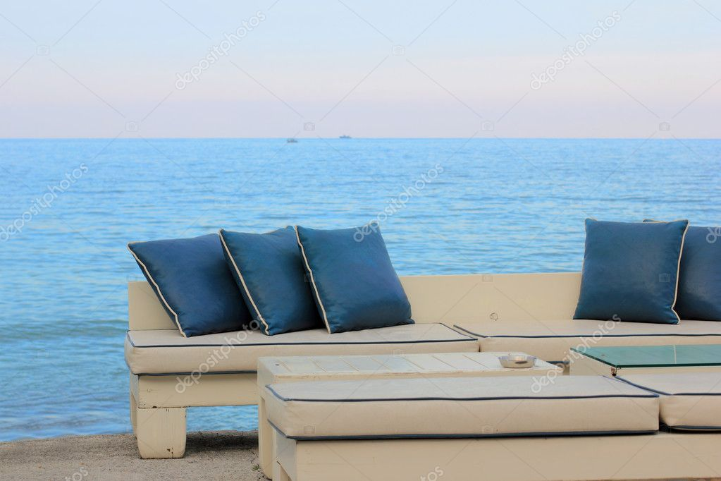 Luxury chill out summer bar at Rhodes island, Greece  Stock Photo #8464756