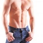 Muscular male torso — Stock Photo #9038136
