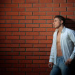 Fashion shot of a young handsome man in casual clothes — Stock Photo