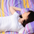Woman in bed - Foto Stock