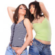 Close-up portrait of two girls — Stock Photo #9039123