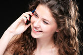 Portrait of glamor woman talking on the phone — Stock Photo