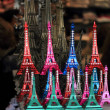 Souvenir of mini eiffel tower  from paris france — Stock Photo
