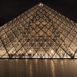 PARIS - JAN 8 : Louvre museum at dusk in Paris, France — ストック写真