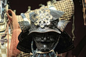 Samurai armor on black — Stock Photo