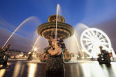 Fountain at Place de la Concord in Paris France — Stock Photo