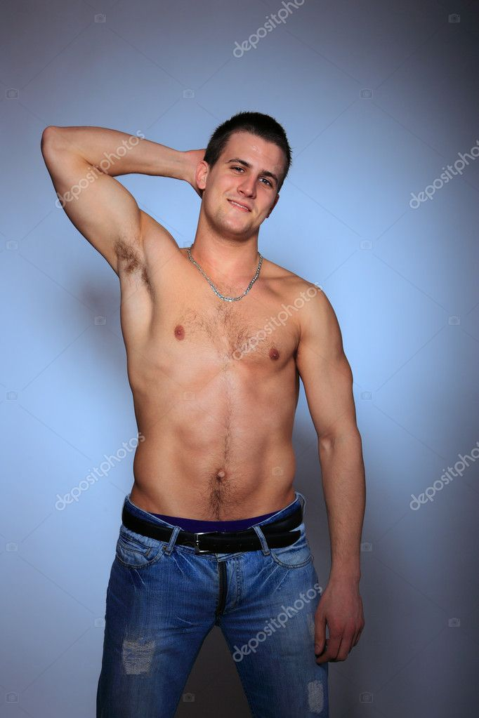 Shirtless man in jeans — Stock Photo © netfalls #9040367