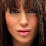 Beautiful long hair brunette woman portrait — Stock Photo