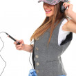 Music Listening Girl — Stock Photo