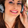 Stock Photo: Music Listening Girl
