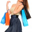 Lovely woman with shopping bags — Stock Photo #9247855
