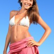 Young beautiful woman posing on the beach — Stock Photo #9254235