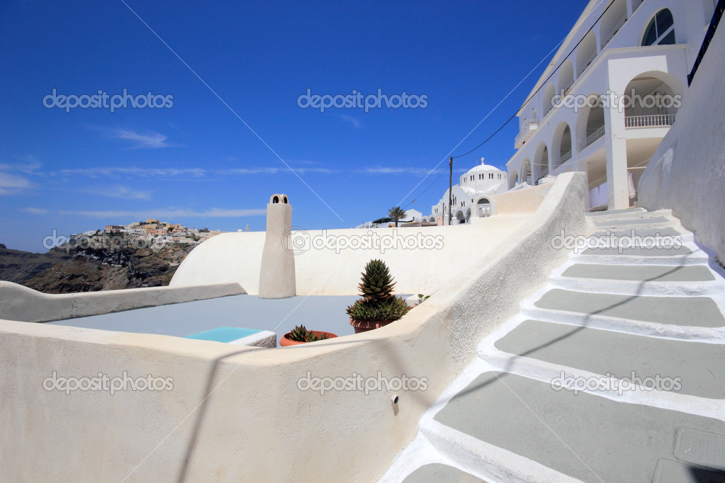 View of Fira town - Santorini island Greece — Stock Photo #9253824