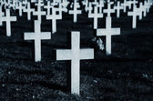 Crosses in cemetery — Stock Photo