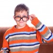 Child wearing eyeglasses — Stock Photo