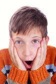 Horrified child — Stock Photo