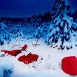 Santa fallen into snow — Stockfoto