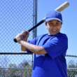 Right handed baseball batter - Stock Photo