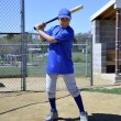 Young teen baseball batter — Stock Photo #10065533