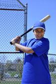Right handed baseball batter — Stock Photo