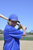 Left handed baseball player — Stock Photo