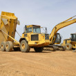Construction vehicles — Stockfoto