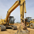 Backhoe construction vehicle — Stock Photo #10163522