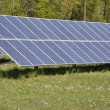 Stock Photo: Ground mounted solar panels