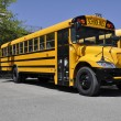 Stock Photo: One yellow school bus